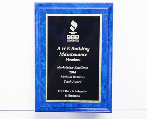 BBB Award for A&E company