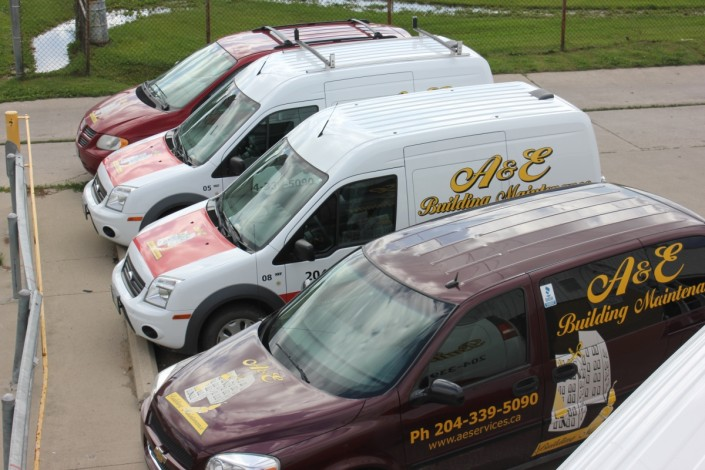top view company cleaning service cars
