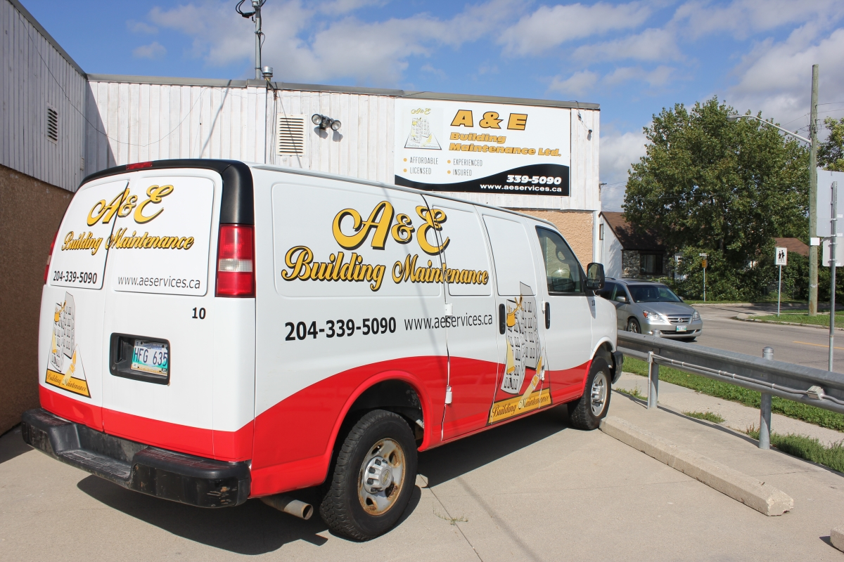 A&E Building Maintenance company office located in Winnipeg Canada